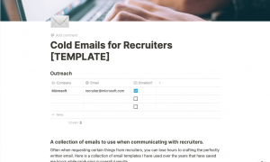 Internships - Cold Emailing to get an Interview