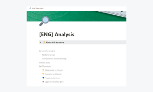 Competitive analysis, Content audit & SWOT